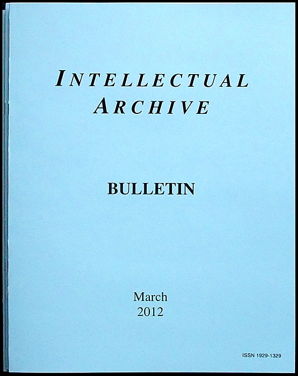Intellectual Archive Bulletin March 2012